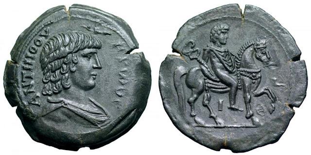 moneda de Antínoo - Alejandría