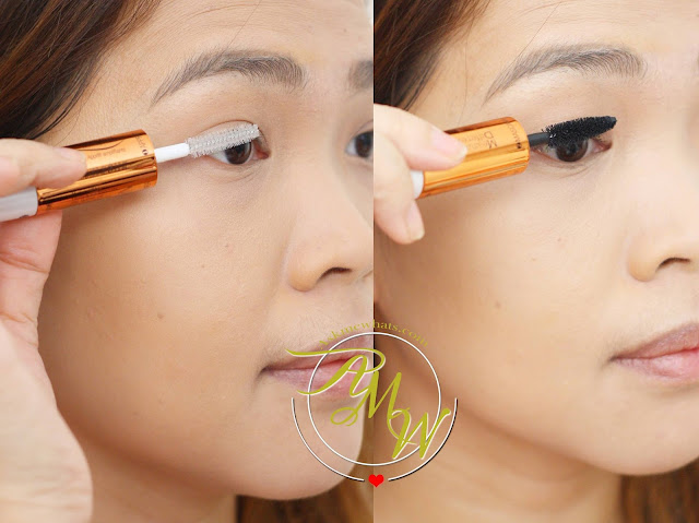 a photo of a girl using Measurable Difference Lash Amplifying Mascara & Primer