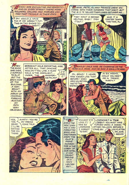 Wartime Romances #4 st. john 1950s golden age romance comic book page by Matt Baker
