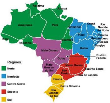 Desenho Do Mapa Politico Do Brasil