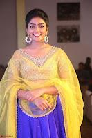 Actress Eesha in Yellow Choli Blue Ghagra at Darshakudu music launch 050.JPG