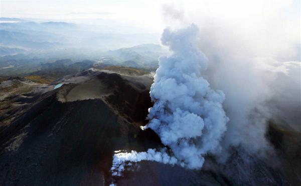 Japan's volcano Ontake erupted in central Japan