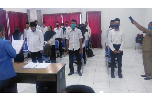 Lanjutkan Tahapan Pilkada, KPU Maros Lantik 309 Anggota PPS dengan Protokol Covid-19