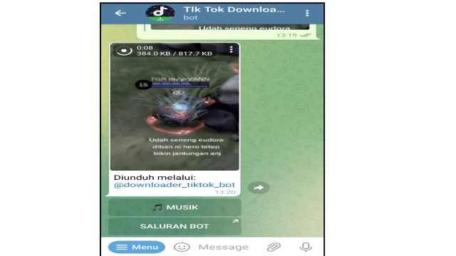 Cara Download Video TikTok Tanpa Watermark di Telegram