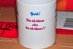 Künstlerkaffeetasse Vorne...