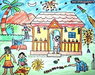 diwali sketch images