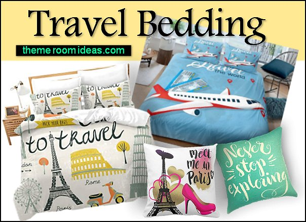 travel bedding travel duvet travel pillows travel theme bedroom decor travel bedroom ideas