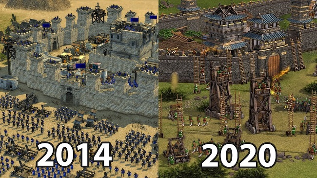 Stronghold Crusader 2 vs Stronghold Warlords Gameplay