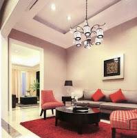 Desain Ruang Tamu Bertema Semi Klasik