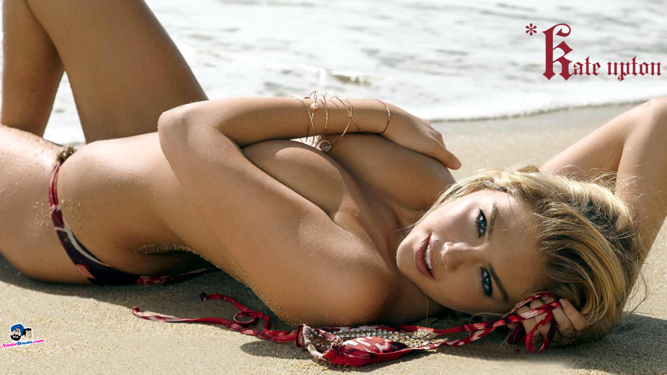 Kate Upton Topless Sexy Wallpaper