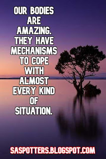 Our bodies are amazing. They have mechanisms to cope with almost every kind of situation.