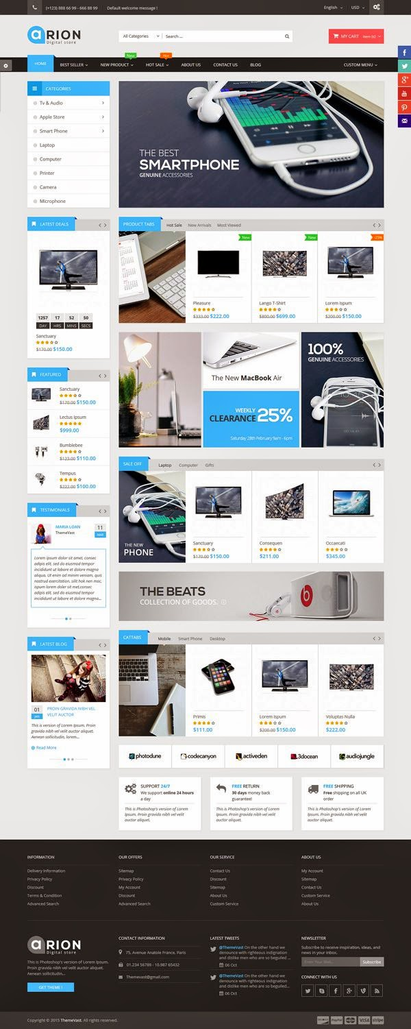 MultiStore Responsive Magento Themes