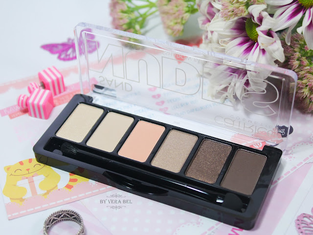 Paletka teney dlya vek Catrice Sand Nudes Eyeshadow Palette 010 Hug S'and Kisses, обзор, отзыв, review, swatches, Vera Bel, свотчи
