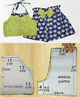 Patrones y medidas de prendas femeninas