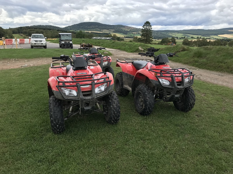 Quad bikes at Deeside Activity Park