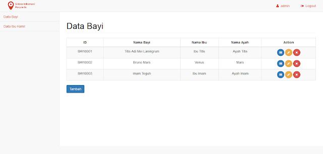 Program Web PHP Sistem Informasi Posyandu Balita dan Ibu Hamil dengan CI