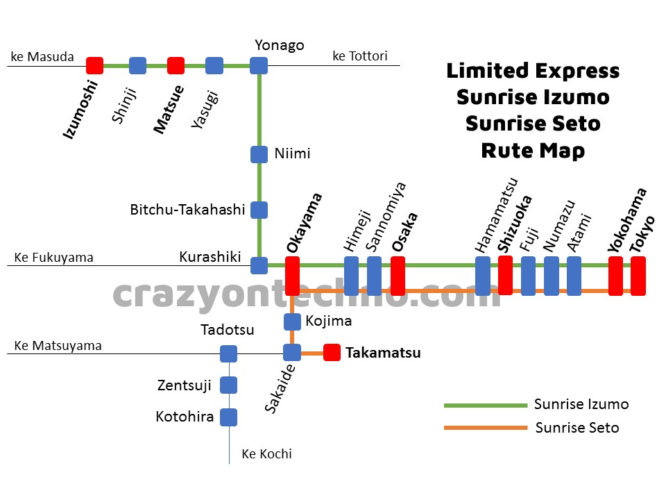 map rute sunrise express