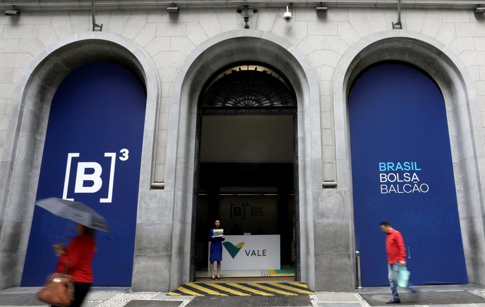 Fachada del edificio B3, la bolsa de valores brasileña, en el centro de San Pablo