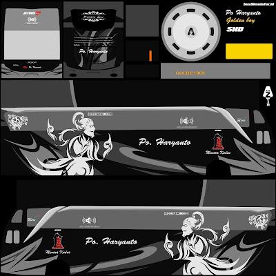 livery shd haryanto hitam