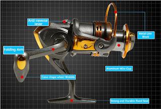 Gulungan Pancing DB3000A Metal Fishing Reel 10 Ball Bearing