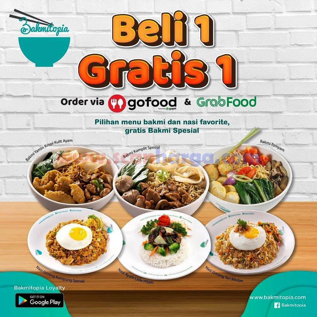BAKMITOPIA Promo Beli 1 Gratis 1 Khusus pemesanan via GOFOOD & GRABFOOD