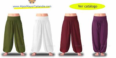 pantalones bombachos baratos en colores lisos