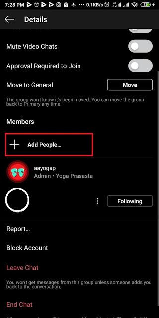 Cara Membuat Grup Instagram