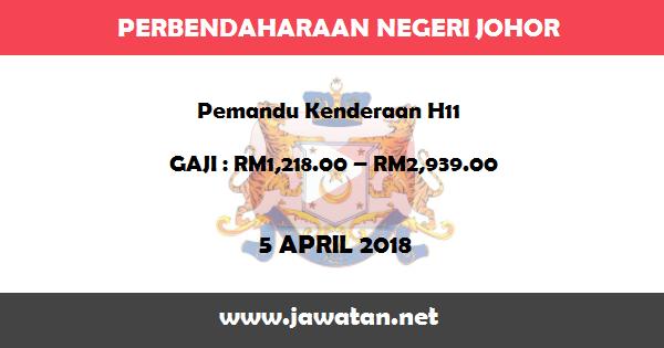 Jawatan Kosong di Perbendaharaan Negeri Johor
