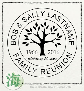 family tree reunion anniversary graphic