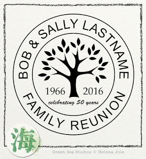 family tree reunion anniversary graphic
