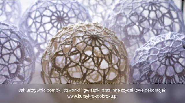 Jak usztywnić bombki 3D, dzwonki, gwiazdki i świąteczne ozdoby szydełkowe?