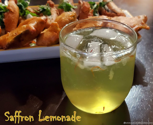 images of Saffron Lemonade / Saffron And Cardamom Lemonade / Homemade Saffron Lemonade