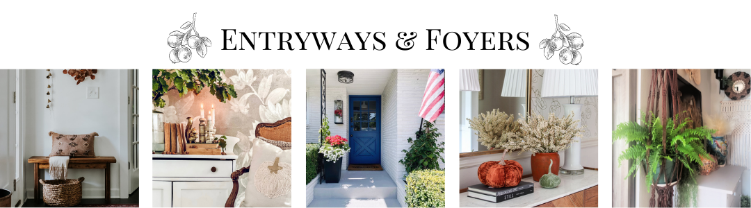 fall entryways and foyers