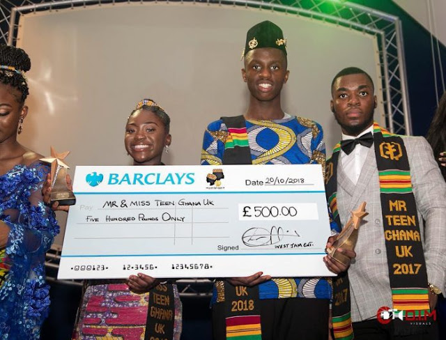West Jam Entertainment Presents £500 To Winners Of Mr & Miss Teen Ghana UK