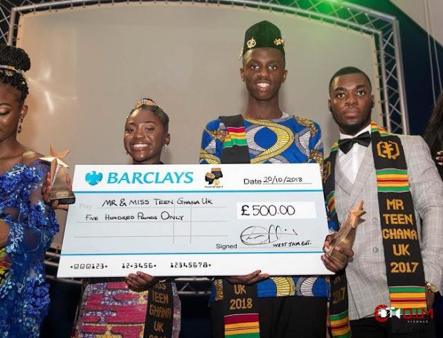 West Jam Entertainment Presents £500 To Winners Of Mr & Miss Teen Ghana UK