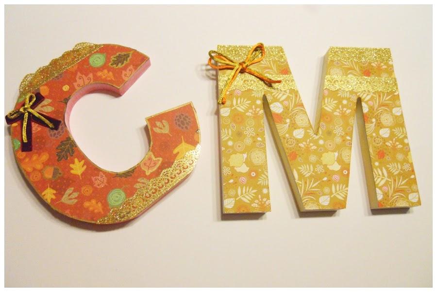 letras decorativas madera