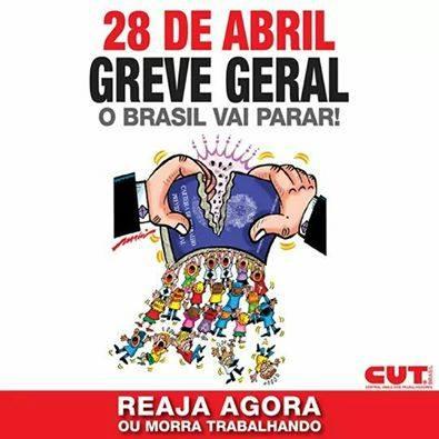 Resultado de imagem para greve geral dia 28/04