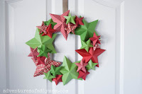 DIY 3D Star Wreath