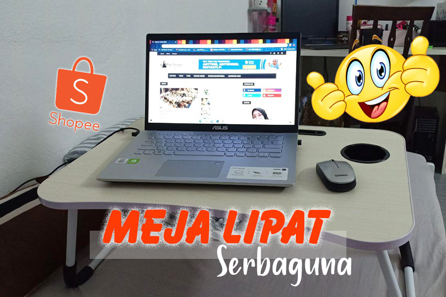 meja lipat, meja laptop, product review, meja lipat serbaguna, shopee,