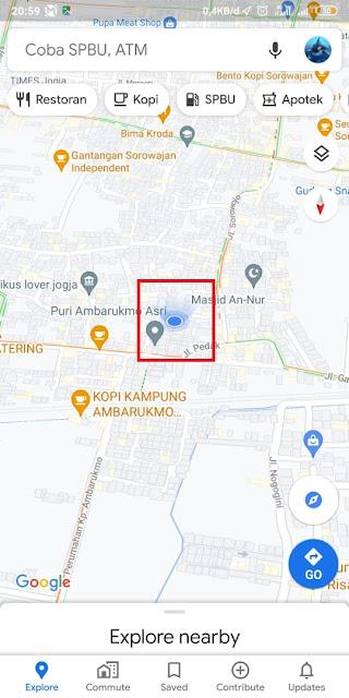 Cara Share Lokasi Google Maps ke WA 1