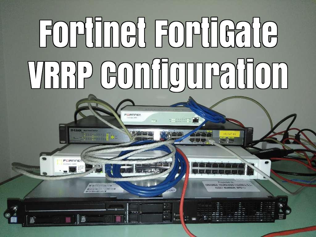 David Romero Trejo: Two FortiGates in a VRRP domain