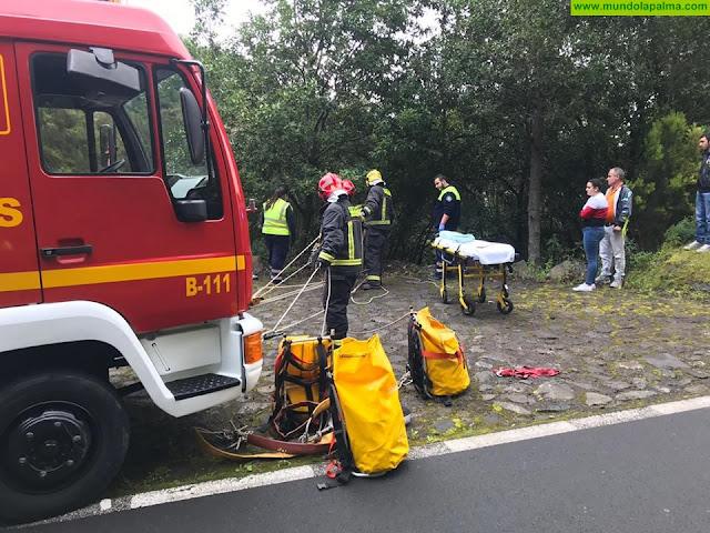 Una mujer herida ayer al salirse su vehículo de la carretera de La Cumbre