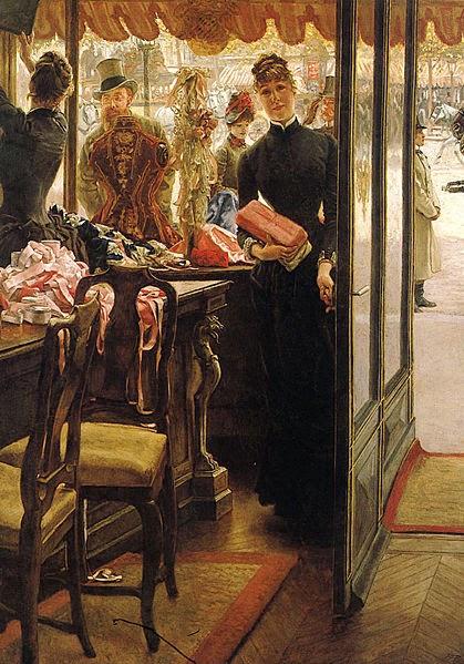 Garotas Fazendo Compras - As principais pinturas de James Tissot ~ Francês