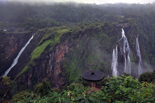 Jog falls view (roarer, rocket, & rani) from British Bungalow