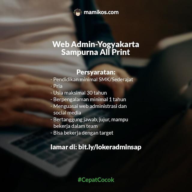 Lowongan Full Time Bulan Agustus Web Admin