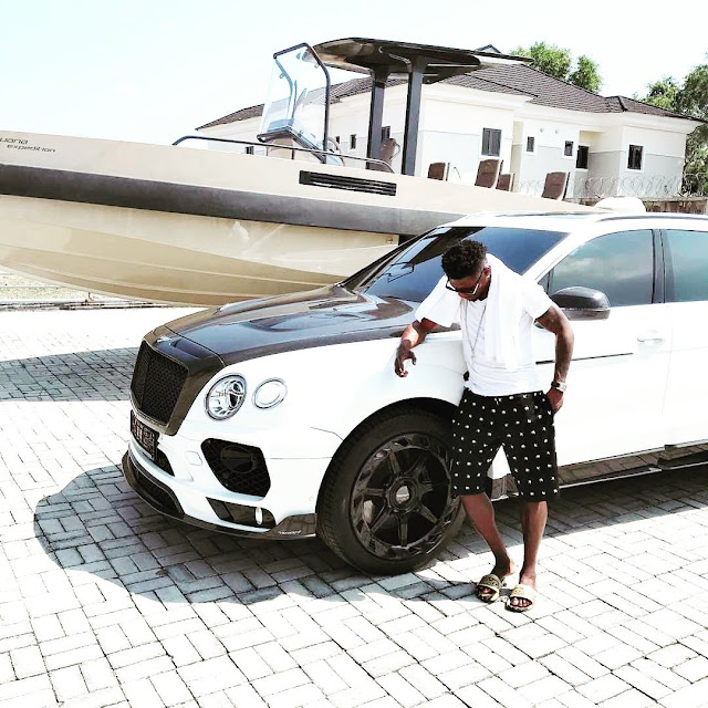 Too Much Money! Check Out Footballer Obafemi Martin's Speed Boat, G-Wagon And Other Cars