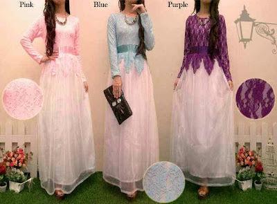Model Baju Muslim Brokat Kombinasi Batik Terbaru