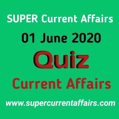 1 June 2020 Current Affairs Quiz in Hindi