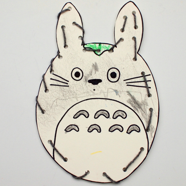 Totoro Lacing Card- Great Kids craft