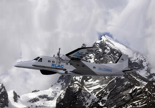 Do-228NG sobrevolando montañas